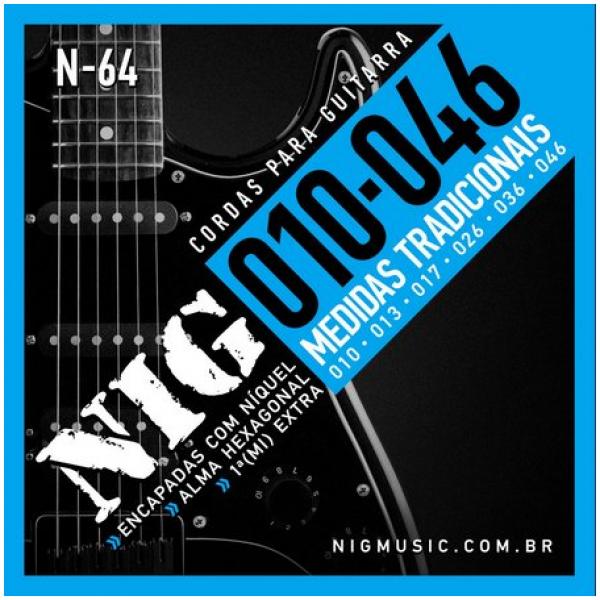 Encordoamento NIG Guitarra Elétrica N-64 - 010-046