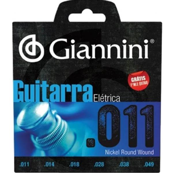 Encordoamento Giannini Guitarra Elétrica GEEGST11 - 011-049