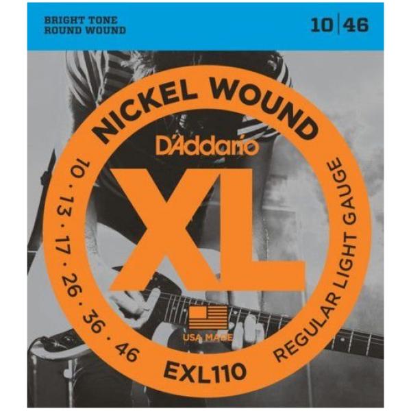 Encordoamento D'Addario Guitarra Elétrica EXL110B - 010-046