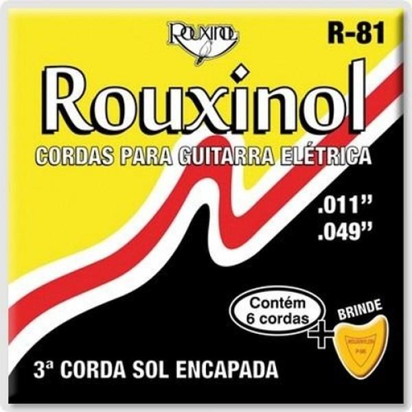 Encordoamento Rouxinol Guitarra Elétrica R-81 - 011-049