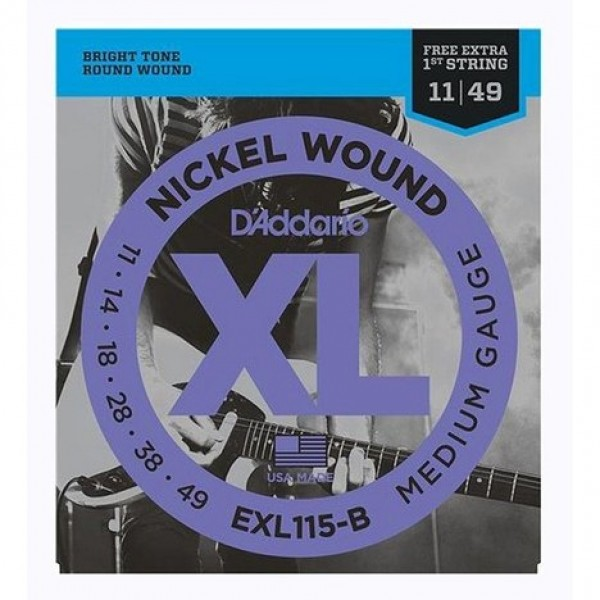Encordoamento D'Addario Guitarra Elétrica EXL115B - 011-049