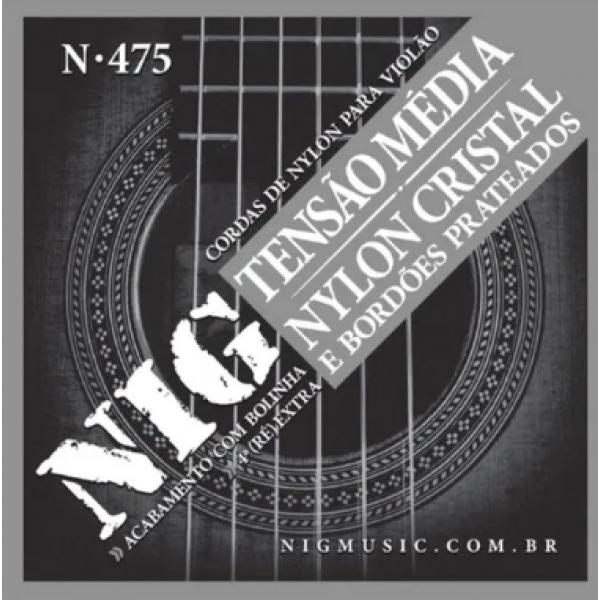 Encordoamento Nylon NIG N475 Tensão Média para Violão