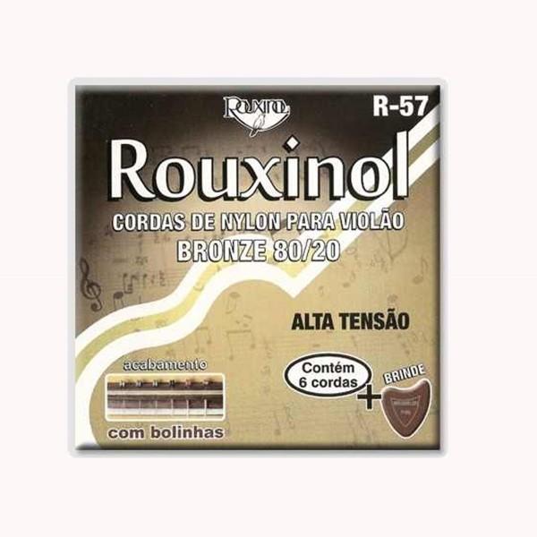 Encordoamento Nylon Rouxinol R-57 Alta Tensão para Violão