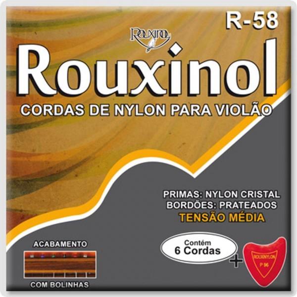 Encordoamento Nylon Rouxinol R-58 Tensão Média para Violão