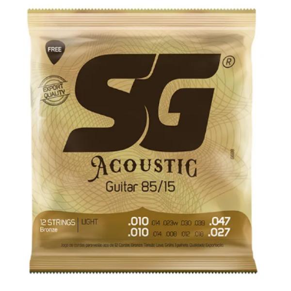 Encordoamento Aço SG Acoustic Tensão Leve para Violão (12 Cordas)