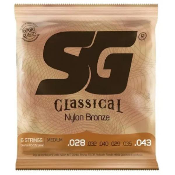 Encordoamento Nylon SG Acoustic Tensão Média para Violão (6 Cordas)