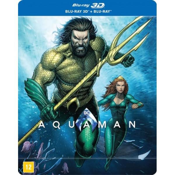 Blu-Ray 3D + Blu-Ray Aquaman (Steelbook)