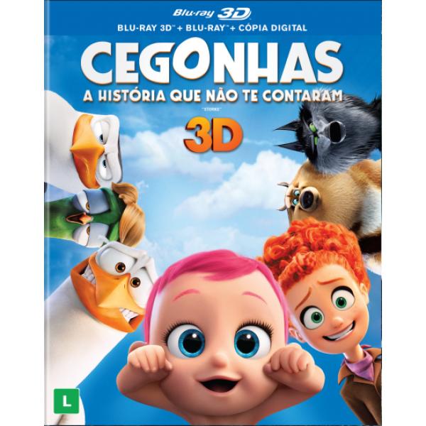 Blu-Ray 3D + Blu-Ray Cegonhas - A História Que Não Te Contaram