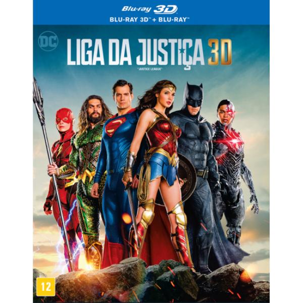 Blu-Ray 3D + Blu-Ray Liga Da Justiça 3D