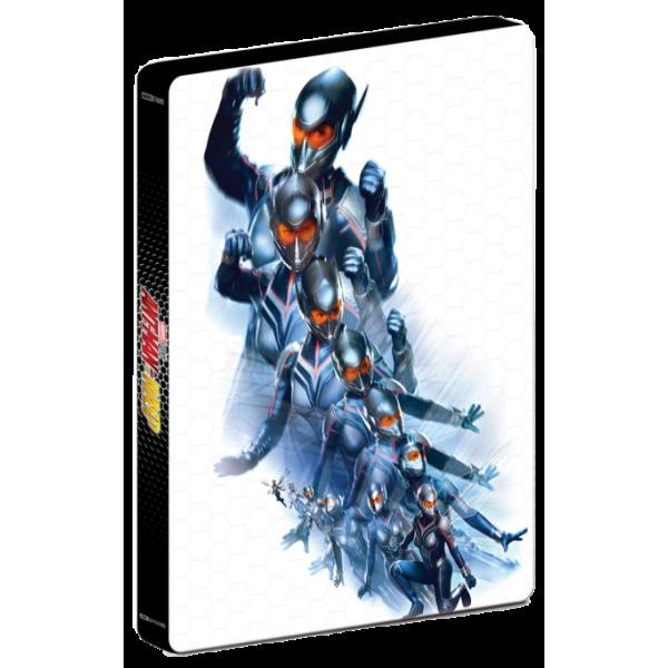 Blu-Ray 3D + Blu-Ray Homem-Formiga e A Vespa (Steelbook)