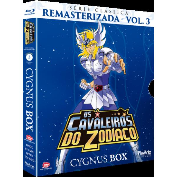 Box Os Cavaleiros Do Zodíaco - Cygnus Box: Série Clássica Remasterizada Vol. 3 (3 Blu-Ray's)
