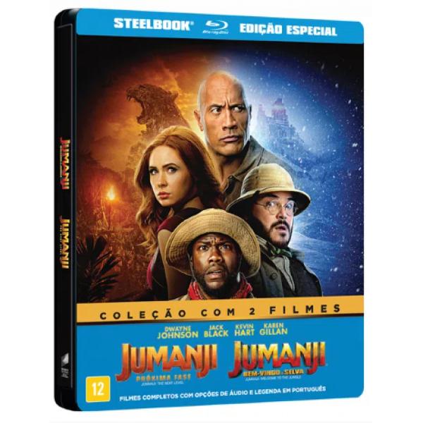 Blu-Ray Jumanji - Coleção Com 2 Filmes (Steelbook DUPLO)