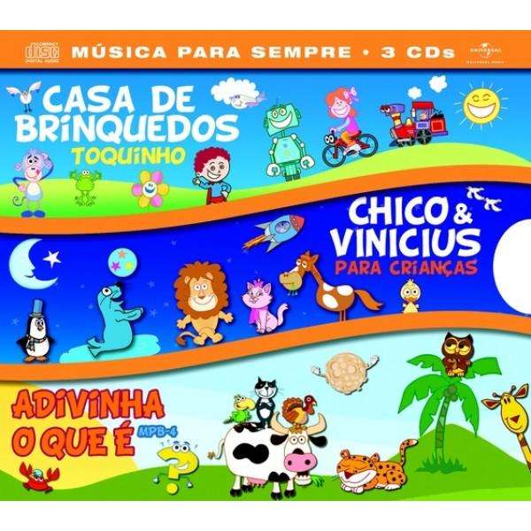 Box Casa De Brinquedos + Chico & Vinicius + Adivinha O Que É (3 CD's)
