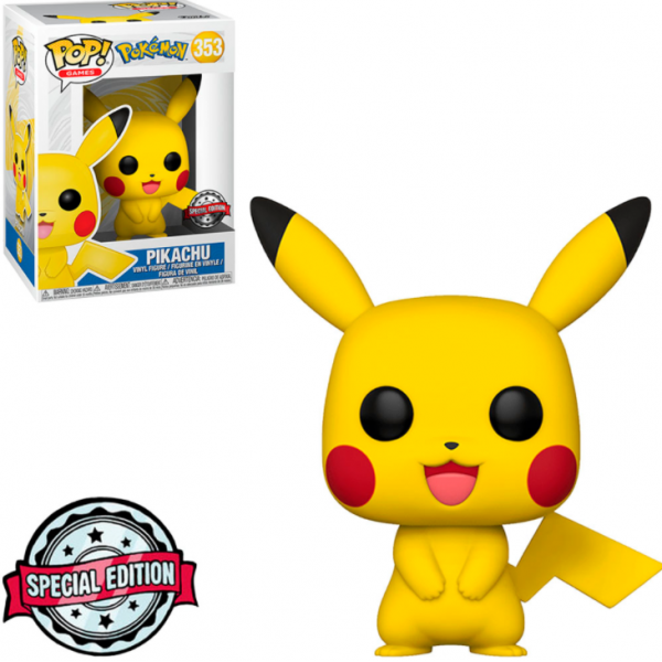 Funko Pop Games - Pokémon Exclusive: Pikachu 353 (IMPORTADO)