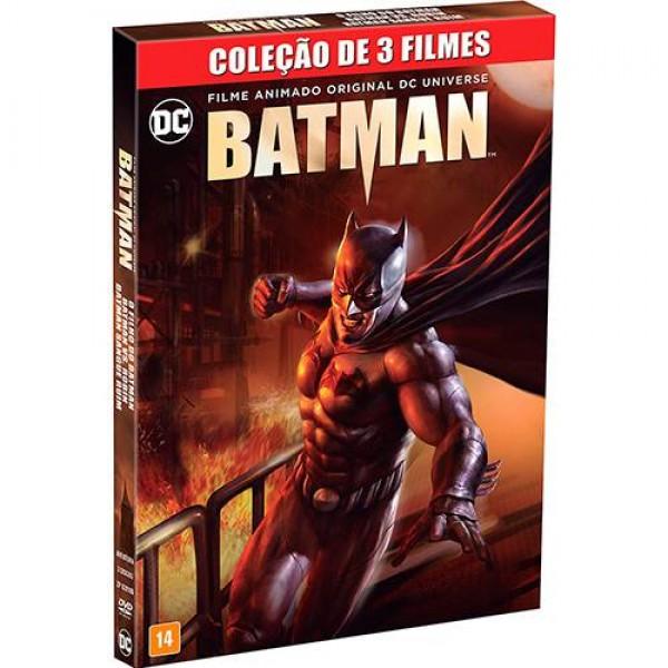 Box Batman - Coleção De Filmes Animados (3 DVD's)