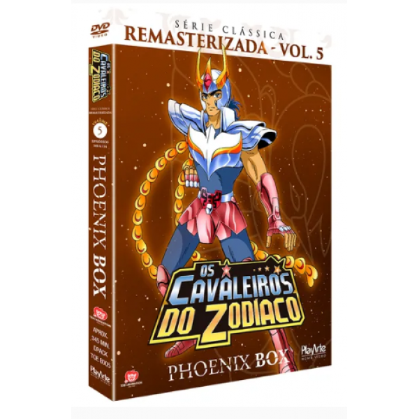 Box Os Cavaleiros Do Zodíaco - Phoenix Box: Série Clássica Remasterizada Vol. 5 (3 DVD's)