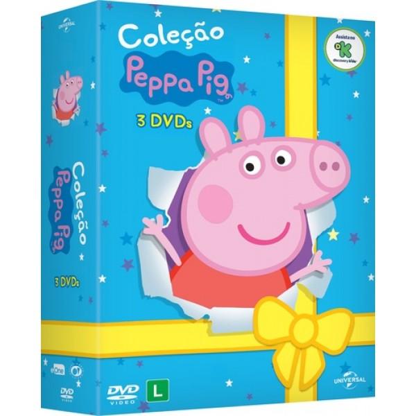 Box Coleção Peppa Pig (3 DVD's)