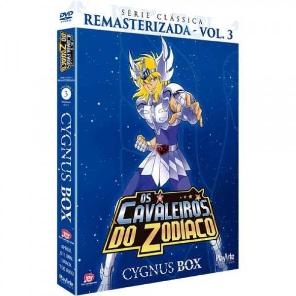 Box Os Cavaleiros Do Zodíaco - Cygnus Box: Série Clássica Remasterizada Vol. 3 (3 DVD's)