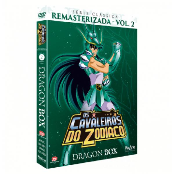 Box Os Cavaleiros Do Zodíaco - Dragon Box: Série Clássica Remasterizada Vol. 2 (4 DVD's)