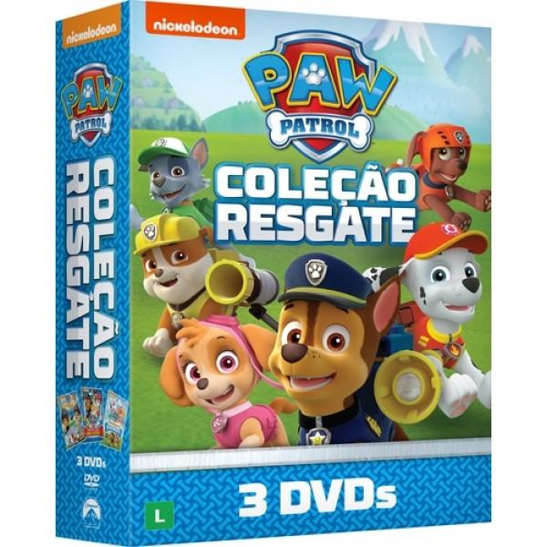Box Paw Patrol - Coleção Resgate (3 DVD's)