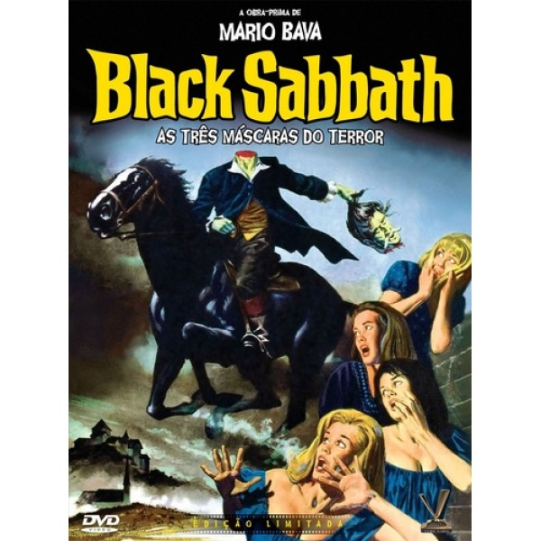 DVD Black Sabbath - As Três Máscaras Do Terror (DUPLO)