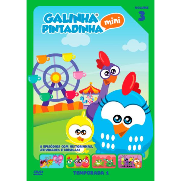DVD Galinha Pintadinha Mini - Temporada 1 Vol. 3