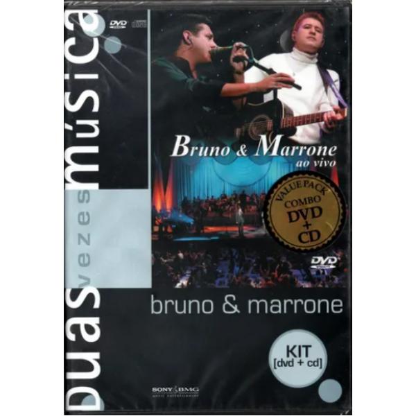 DVD + CD Bruno & Marrone - Duas Vezes Música: Ao Vivo