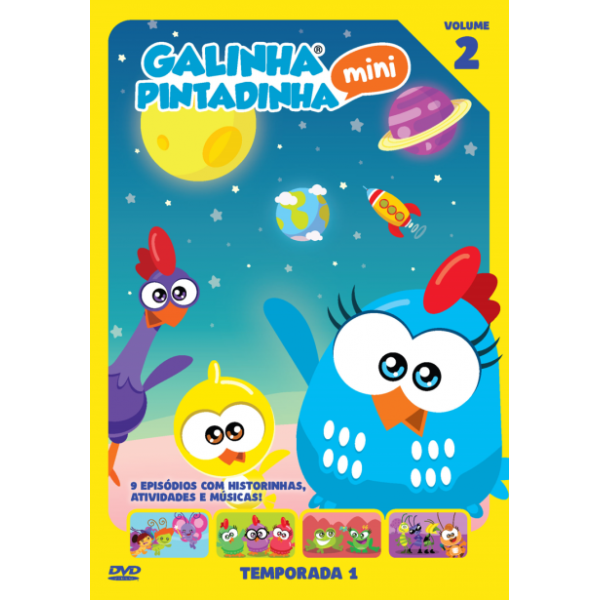 DVD Galinha Pintadinha Mini - Temporada 1 Vol. 2