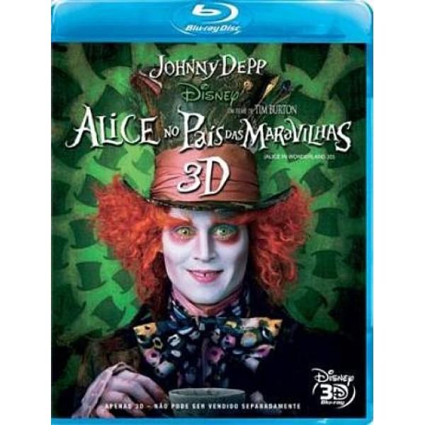 Blu-Ray Alice No País das Maravilhas 3D