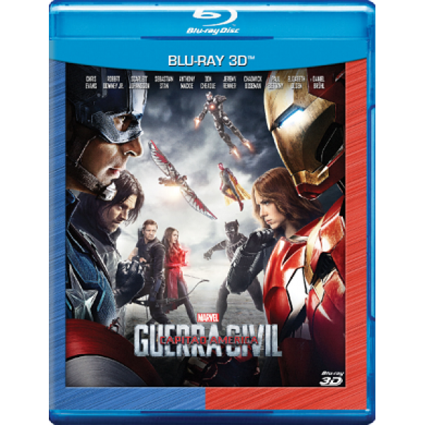 Blu-Ray 3D Capitão América - Guerra Civil