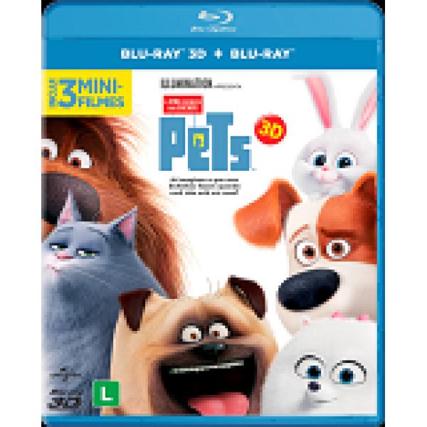 Blu-Ray 3D + Blu-Ray - Pets: A Vida Secreta dos Bichos