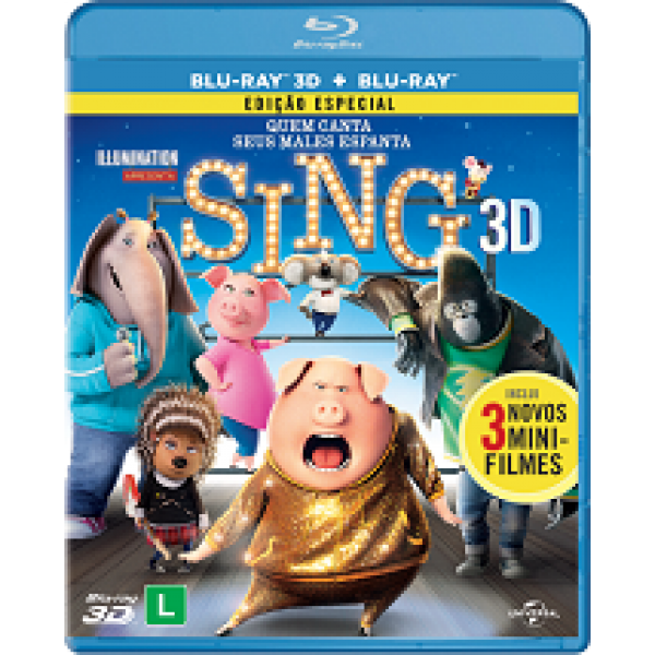 Blu-Ray 3D + Blu-Ray Sing - Quem Canta Seus Males Espanta