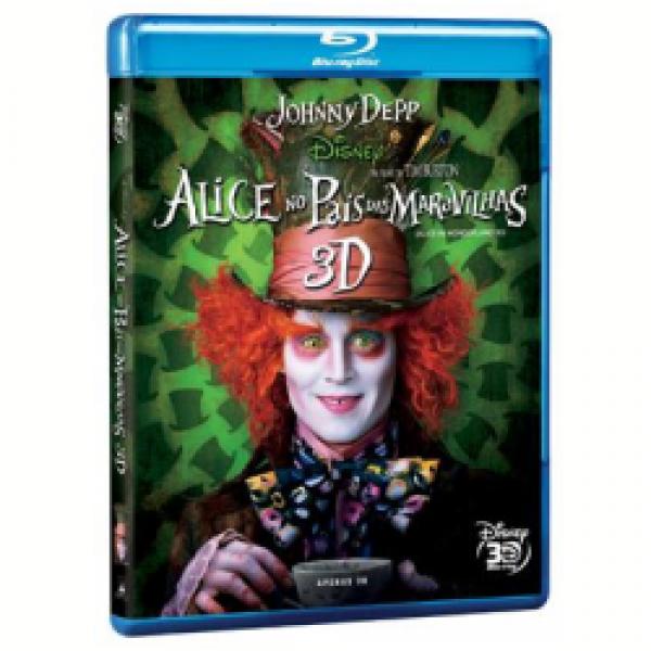 Blu-Ray 3D Alice no País das Maravilhas