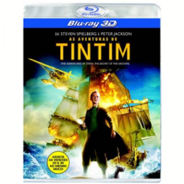 Blu-Ray 3D As Aventuras de Tintim