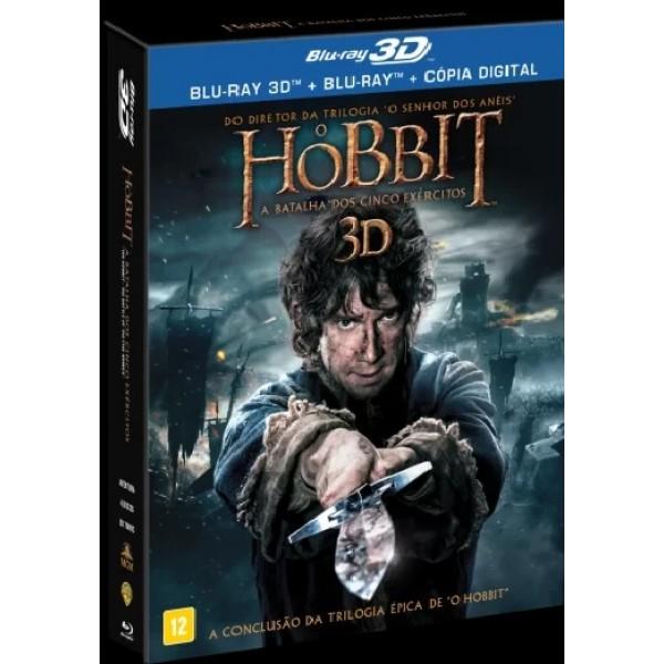 Blu-Ray 3D + Blu-Ray + Cópia Digital - O Hobbit - A Batalha dos Cinco Exércitos