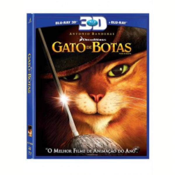Blu-Ray 3D + Blu-Ray - Gato de Botas