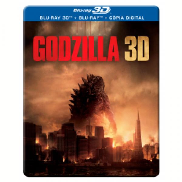 Blu-Ray 3D + Blu-Ray + Cópia Digital - Godzilla