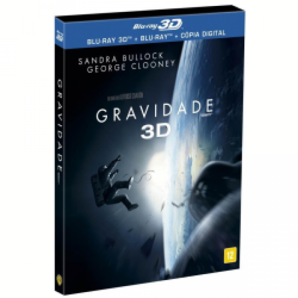 Blu-Ray 3D + Blu-Ray + Cópia Digital - Gravidade