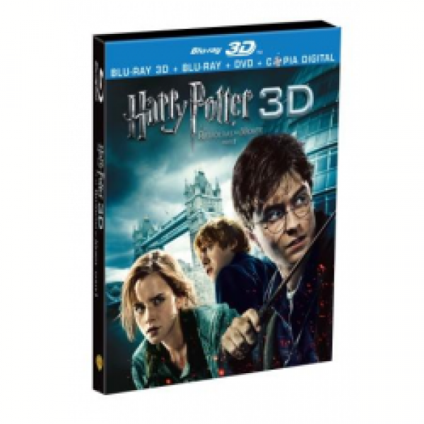 Blu-Ray 3D + Blu-Ray + DVD - Harry Potter e as Relíquias da Morte Parte 1