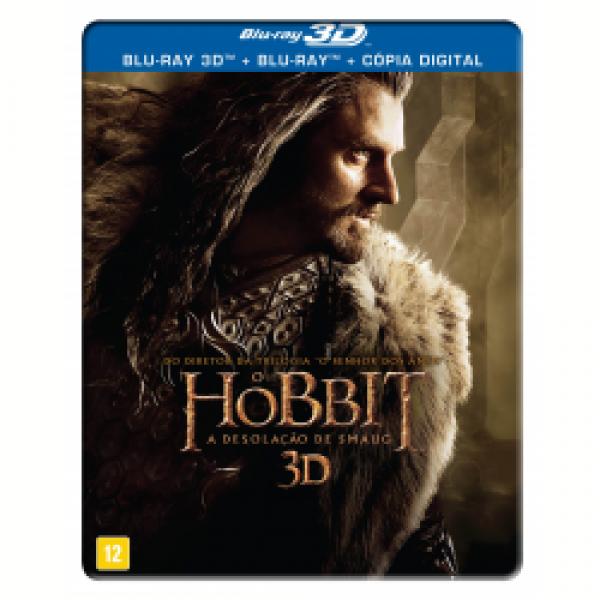 Blu-Ray 3D + Blu-Ray + Cópia Digital - O Hobbit - A Desolação de Smaug