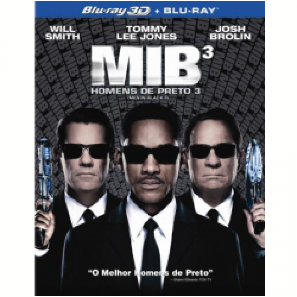 Blu-Ray 3D + Blu-Ray - Homens de Preto 3