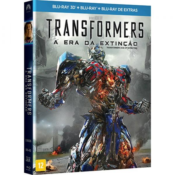 Blu-Ray 3D + Blu-Ray Transformers + Blu-Ray Extras - A Era da Extinção