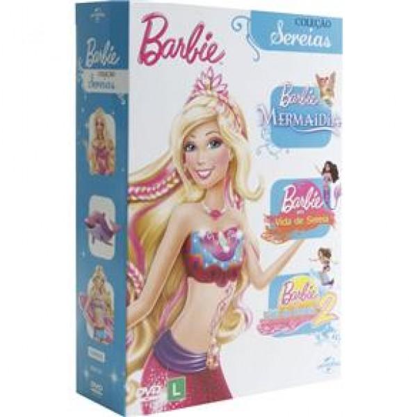 """Box Barbie - Coleção Sereias (3 DVD""""s)"""