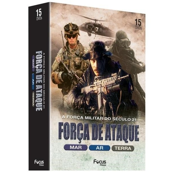 Box Força de Ataque: A Força Militar do Seculo 21 (15 DVD's)