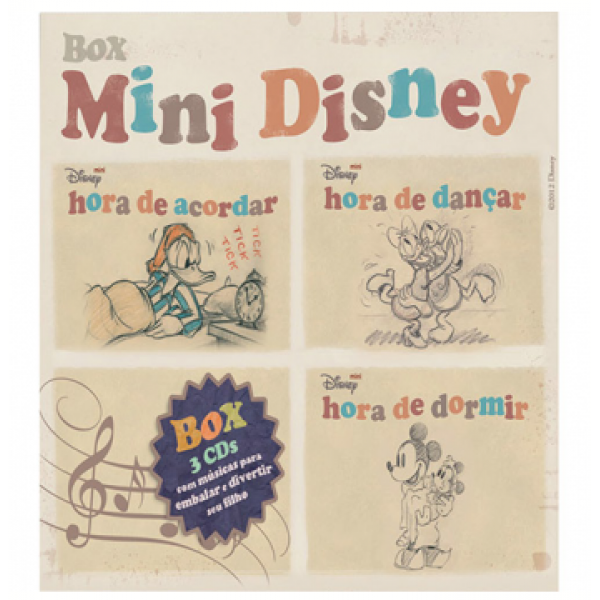Box Mini Disney (3 CD's)