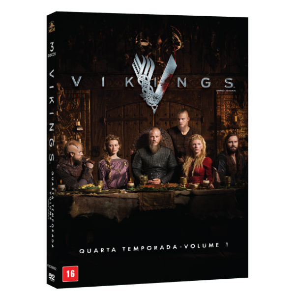 Box Vikings - Quarta Temporada Vol. 1 (3 DVD's)