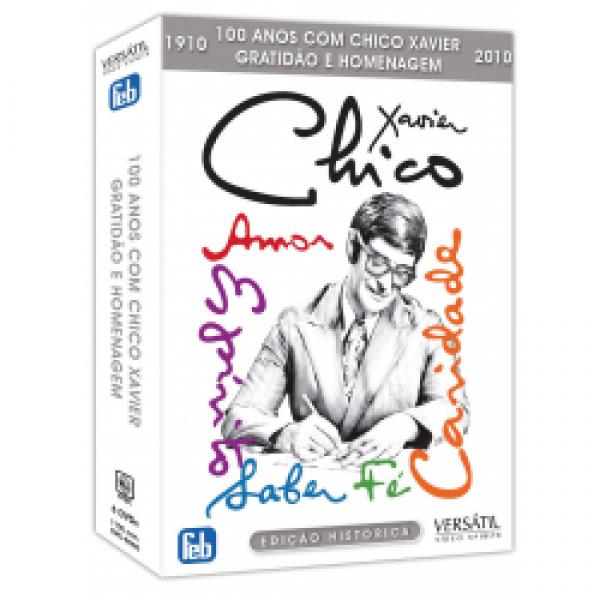 Box Chico Xavier - 100 Anos Com Chico Xavier - Gratidão e Homenagem (6 DVD's)