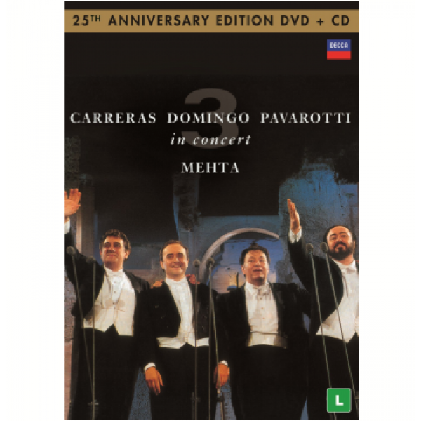DVD + CD Carreras/Domingo/Pavarotti - In Concert (25th Anniversary Edition)