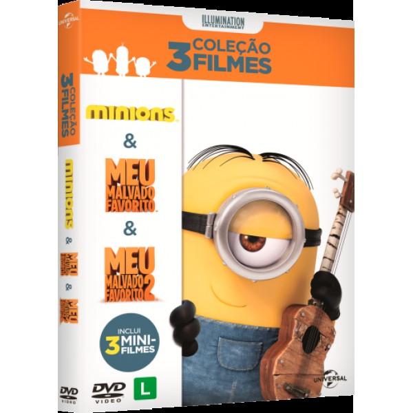 Box Coleção Os Minions + Meu Malvado Favorito + Meu Malvado Favorito 2 (3 DVD's)