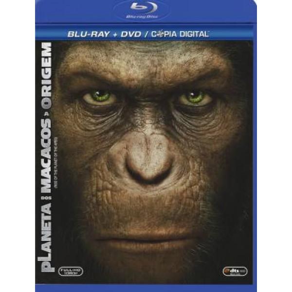 Blu-Ray + DVD Planeta Dos Macacos - A Origem